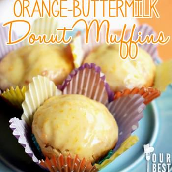 Buttermilk Orange Donut Muffins