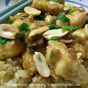 Kung Pao Chicken/Gong bao ju ding/Spicy Chicken with Peanuts