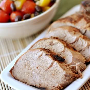 Citrus and Soy-Marinated Grilled Pork Tenderloin