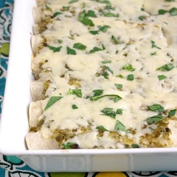 Lighter Chicken Enchiladas Verdes