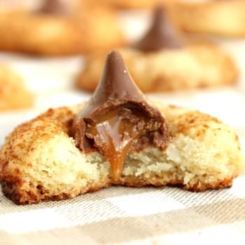 Coconut Butter Caramel Kiss Blossoms