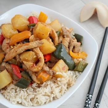 Sweet and Sour Pork with Pineapple (Throwback Thursdays)