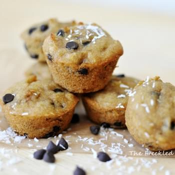 Coconut Chocolate Chip Mini Muffins (Grain, Gluten, Dairy, and Nut Free)