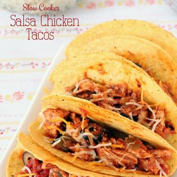 Slow Cooker Salsa Chicken Tacos & Rice Bowls
