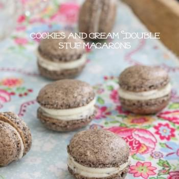 Cookies and Cream Double Stuf Macarons