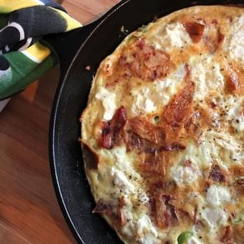 Frittata with Bacon & Fresh Ricotta