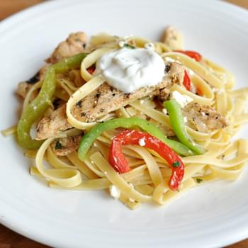 Grilled Chicken Fajita Fettuccine