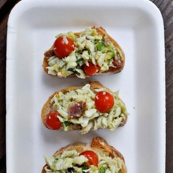 Avocado Crab Crostini