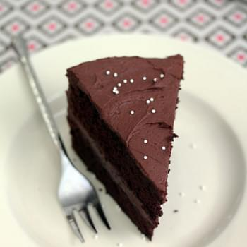 One-Bowl Chocolate Cake with Cocoa Cream Frosting