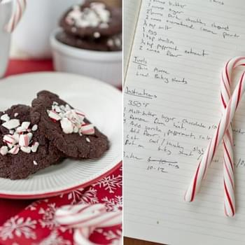 Peppermint Brownie Thins