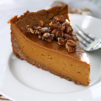 Gluten-Free Pumpkin Pie with Praline and Coconut-Pecan Crust