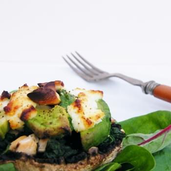 Avocado and Goats Cheese Stuffed Mushrooms