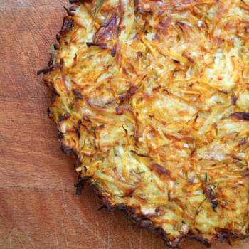 Potato, Carrot And Rosemary Kugel