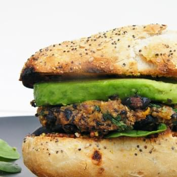 Cajun Spiced Black Bean and Sweet Potato Burgers