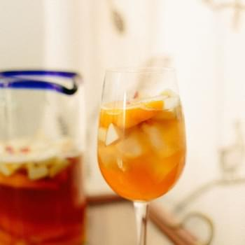Peach Lambic and Rye Sangria