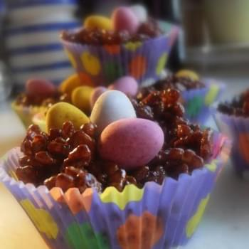 Easter Chocolate Crispie Nests