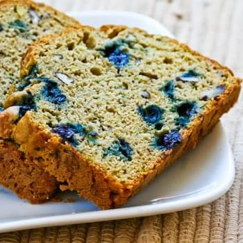 Low-Sugar and Whole Wheat Zucchini Bread with Blueberries and Pecans