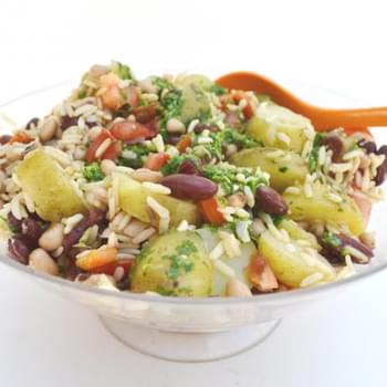 Potato and Bean Salad with Zingy Herb Dressing