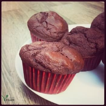 Cacao Muffins with Pure Chocolate Chunks
