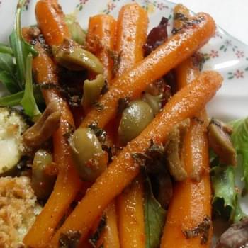 Moroccan Carrot Salad with Green Olives and Mint