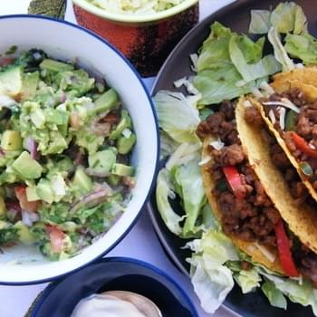 Spicy Veggie Tacos with Chunky Guacamole