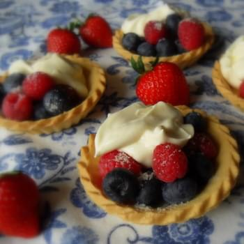 Mixed Berry and Creamy Custard Tarts