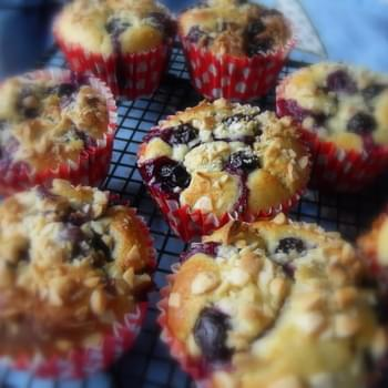 *Warm Blueberry and Almond Muffins*