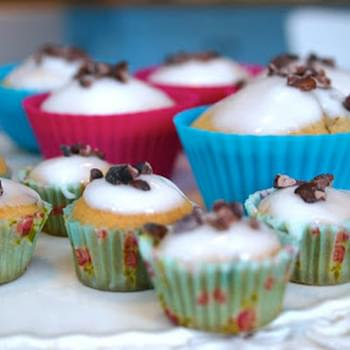 Cocoa Nibs And Rose Tea Cupcakes