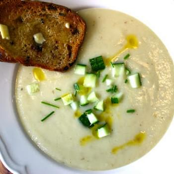 Lemongrass Vichyssoise served with Caramelised Onion and Thyme Bread