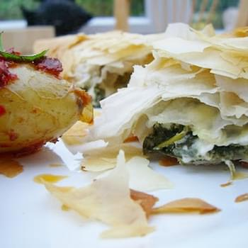 Spinach and Feta Triangles
