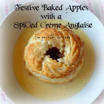 Festive Apple Dumplings with a Spiced Creme Anglaise