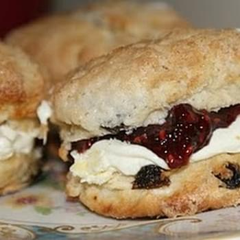 Sugar Crusted Fruit Scones