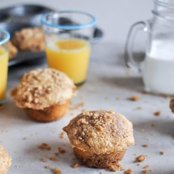 Whole Wheat Coffee Cake Muffins