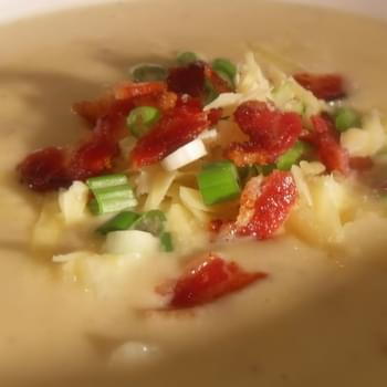 Baked Potato and Leek Soup