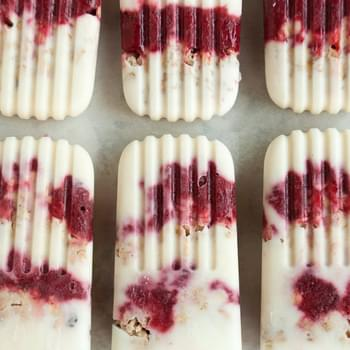 Yogurt Parfait Breakfast Popsicles