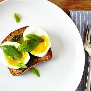 Basil Pesto & 6 Minute Egg on Toast