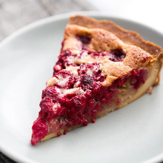 Raspberry Walnut Tart