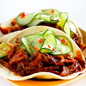 Korean Style Tacos with Kogi BBQ Sauce