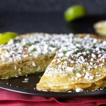Charred Corn Crepes