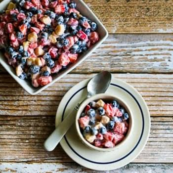 Easy Red, White, and Blueberry Salad