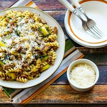 Rustic Pasta Sauce with Italian Sausage, Zucchini, and Sage