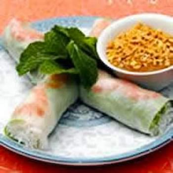 Asian Fresh Pork and Shrimp Spring Rolls