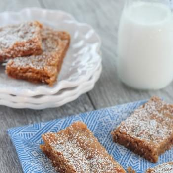Soft Gingersnap Cake Bars