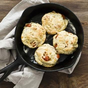 Tomato, Cheddar, And Bacon Biscuits