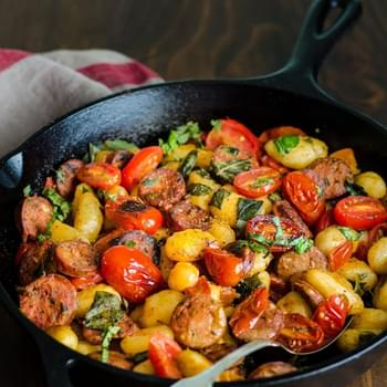 Gnocchi Skillet with Chicken Sausage & Tomatoes