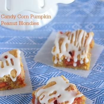 Candy Corn Pumpkin Peanut Blondies
