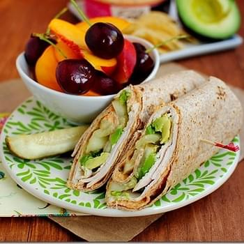 Turkey, Avocado & Hummus Wrap