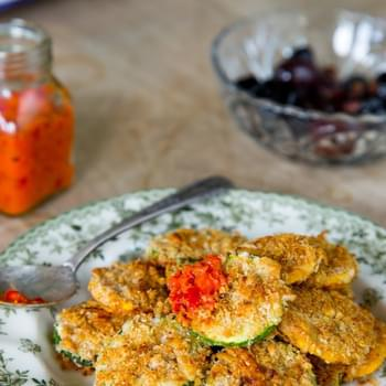 Oven-Baked Zucchini Parmesan Crisps