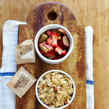 Strawberry Rhubarb Oatmeal Crisps