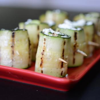 Zucchini and Goat Cheese Wraps